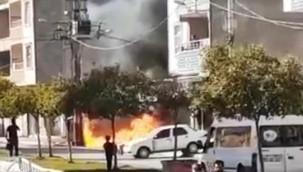 Patlayan elektrik trafosu korku saçtı
