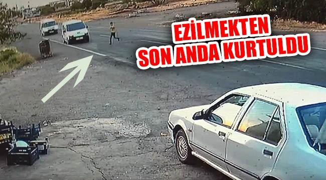 Şoförün dikkati sayesinde kurtuldu