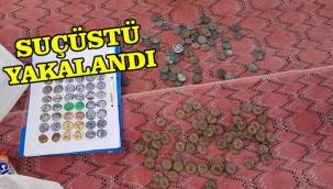 Tarihi paraları satacakken yakalandılar