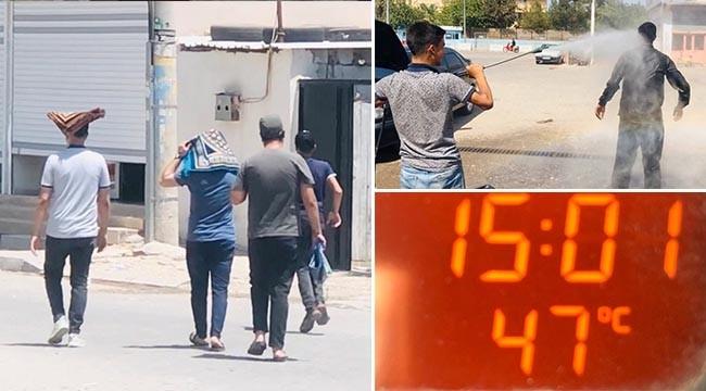 Termometre 47'yi gösterdi! Vatandaş bunaldı