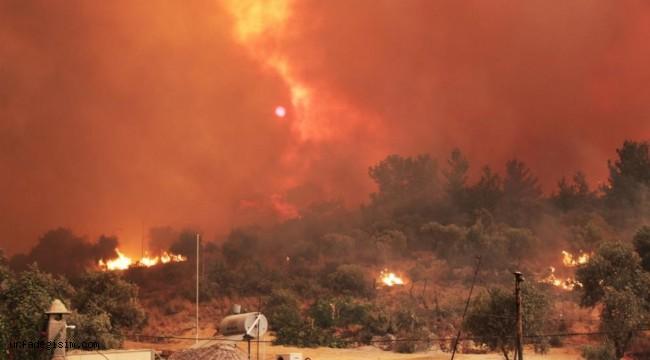 Muğla'da yangın devam ediyor