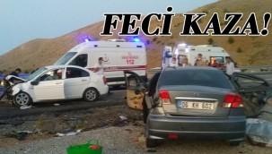 Otomobiller çarpıştı! 3 ölü 4 yaralı