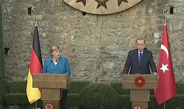 Cumhurbaşkanı Erdoğan ve Merkel'den önemli açıklamalar