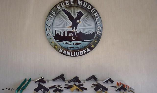 Şanlıurfa'da eş zamanlı operasyon! Çok sayıda silah ele geçirildi!