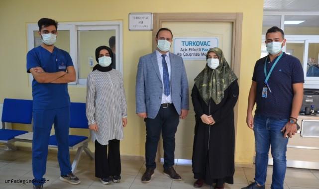 Turkovac Aşısı Urfa'da ilk kez yapıldı