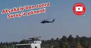 Akçakale sınırında helikopter hareketliliği